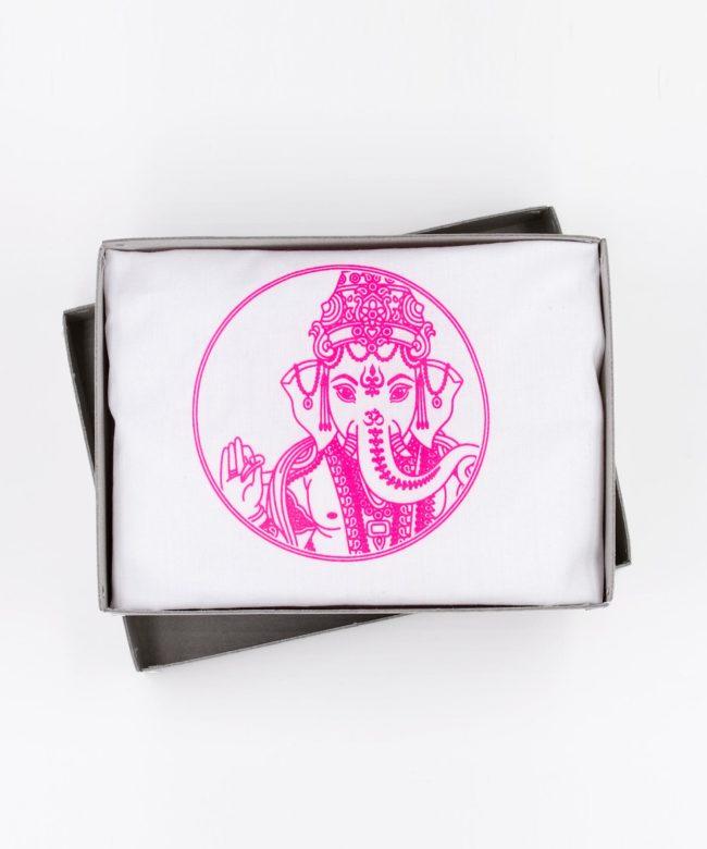 Ganesha Beutel neon pink im Karton