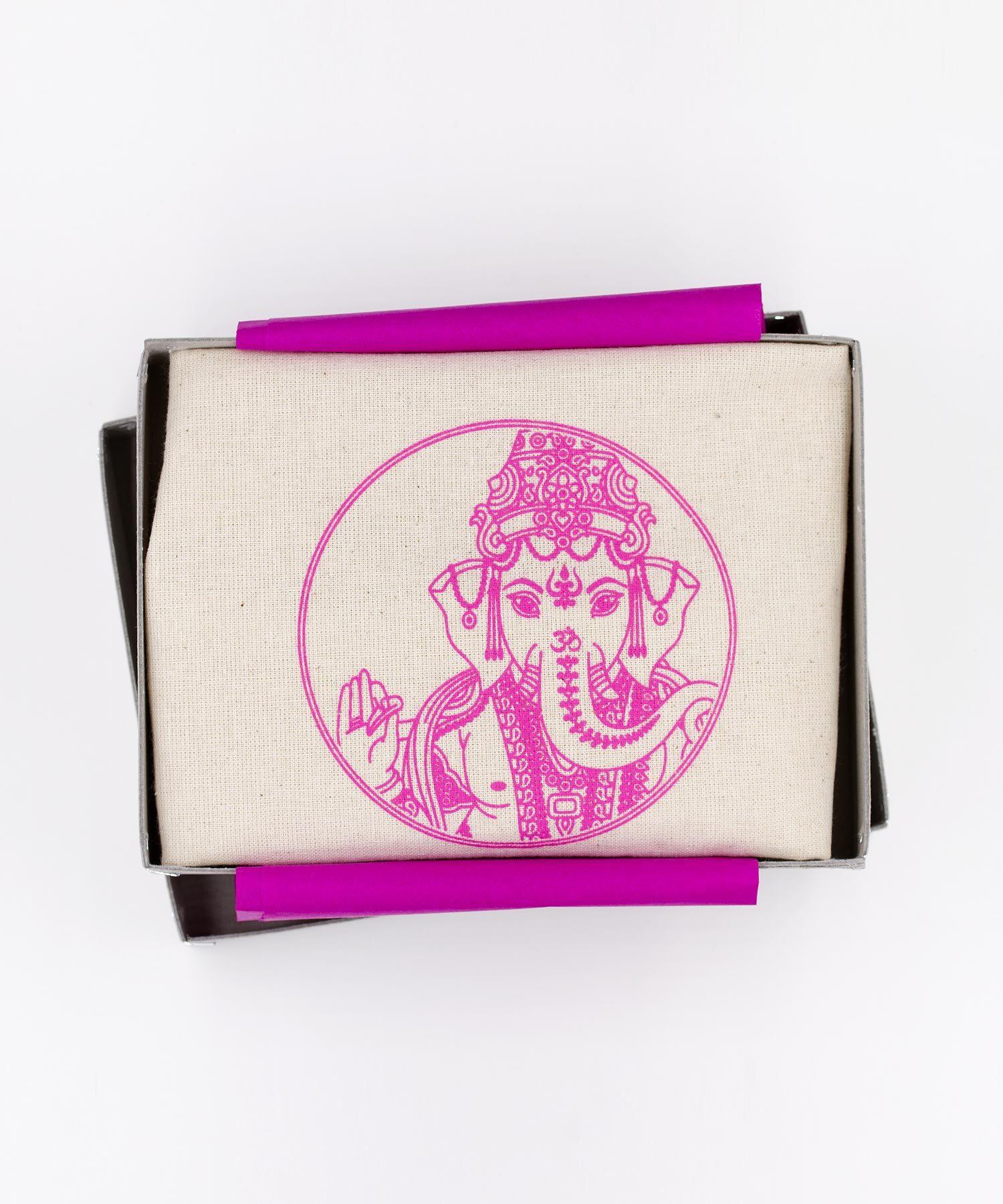 Ganesha Beutel pink im Karton