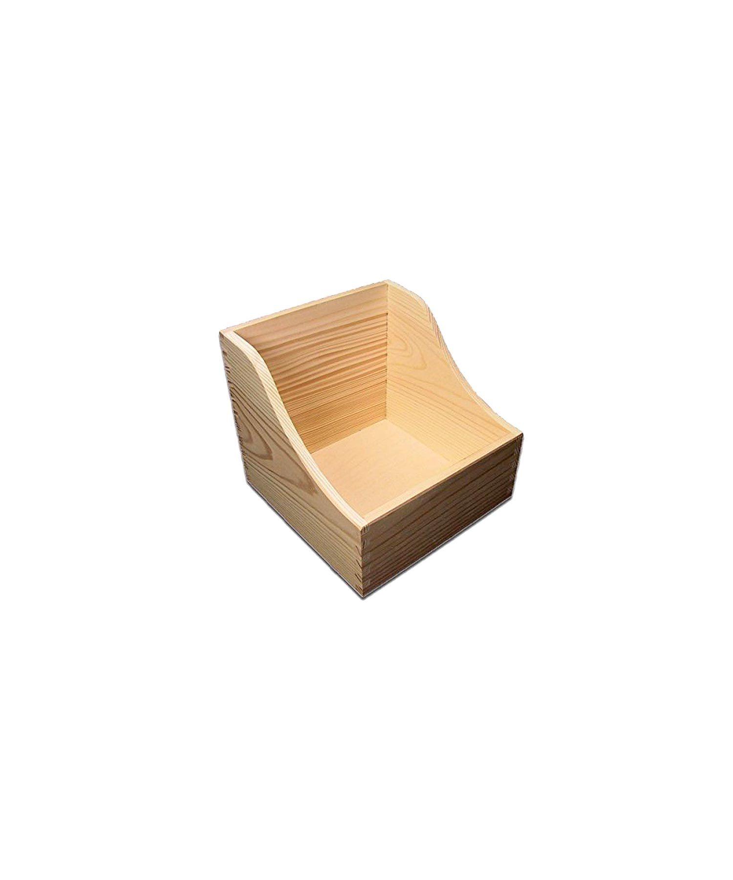 Holzbox, Thekendisplay aus Kiefernholz