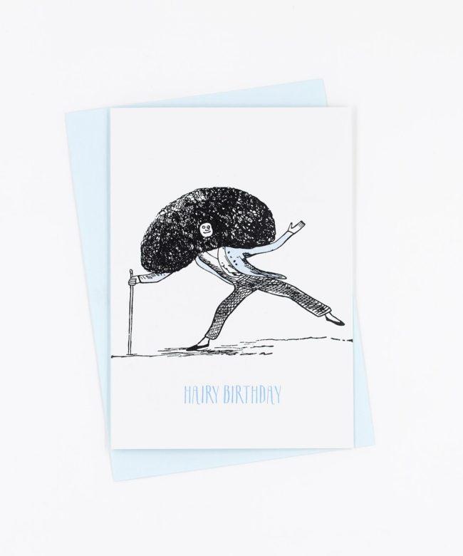 Geburtstagskarte Hairy Birthday