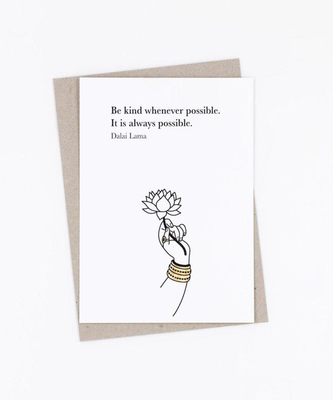 Postkarte Be kind