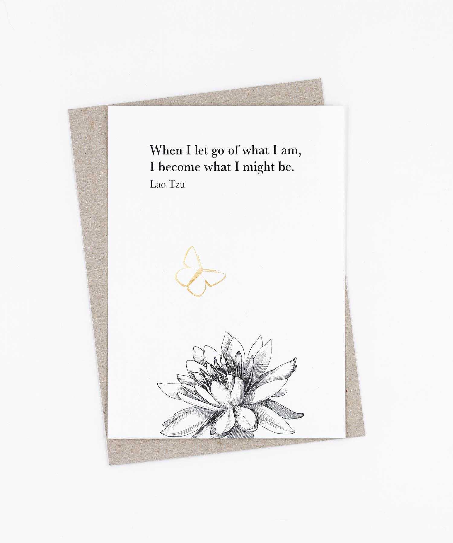 Postkarte Let go