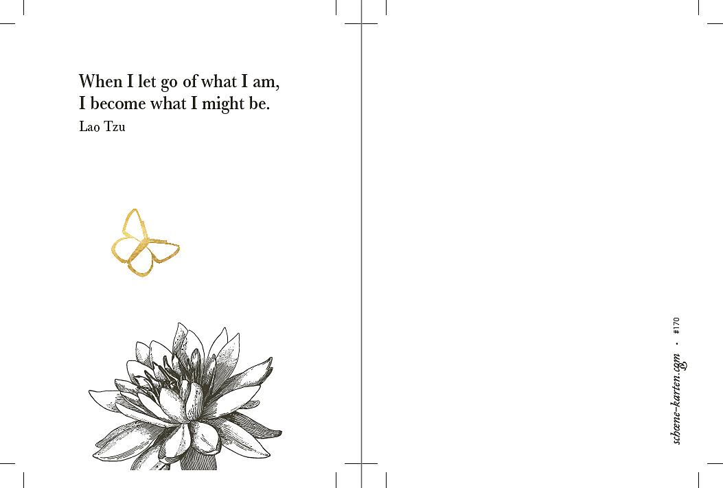 Yoga Postkarte Let go