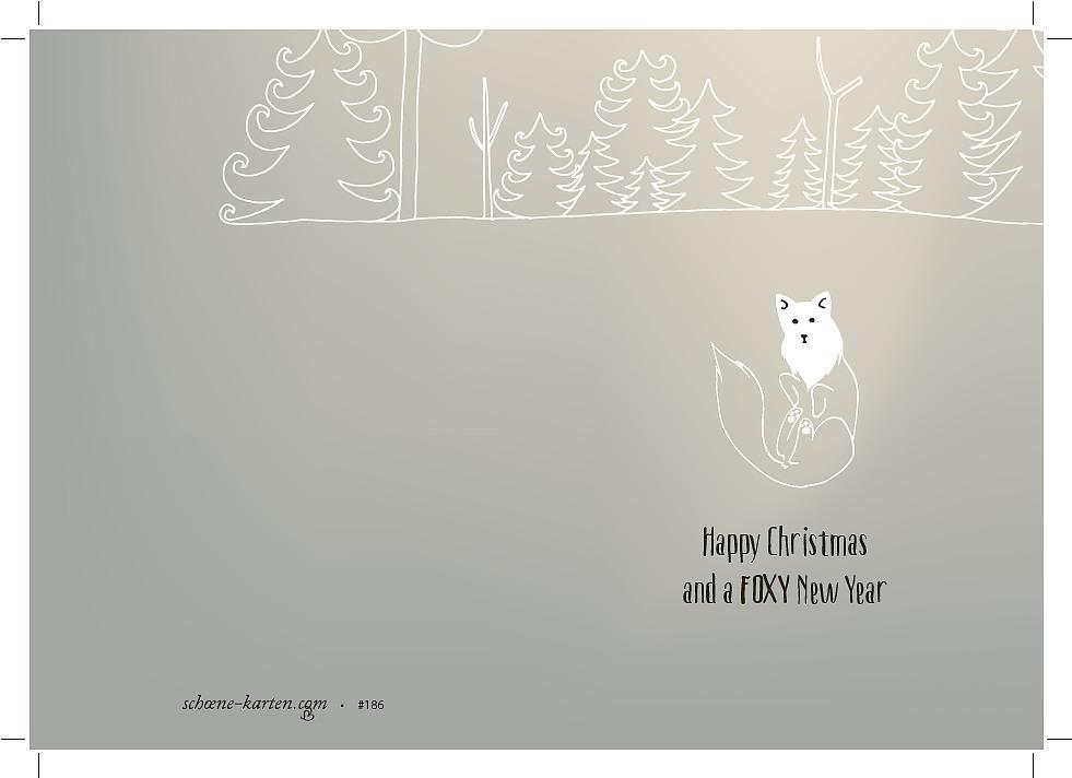 Weihnachtskarte Foxy New Year