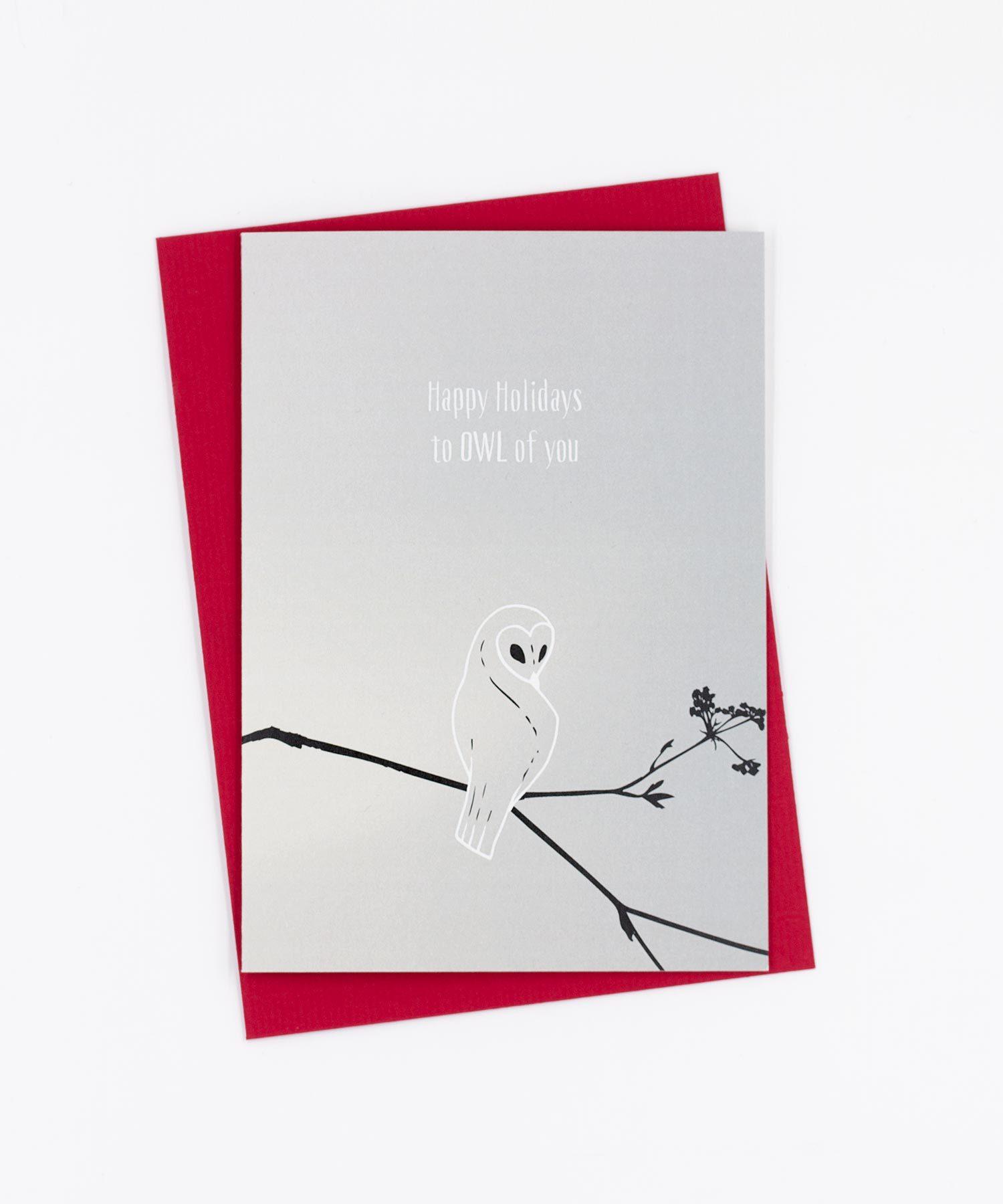 Weihnachtskarte Happy Holidays