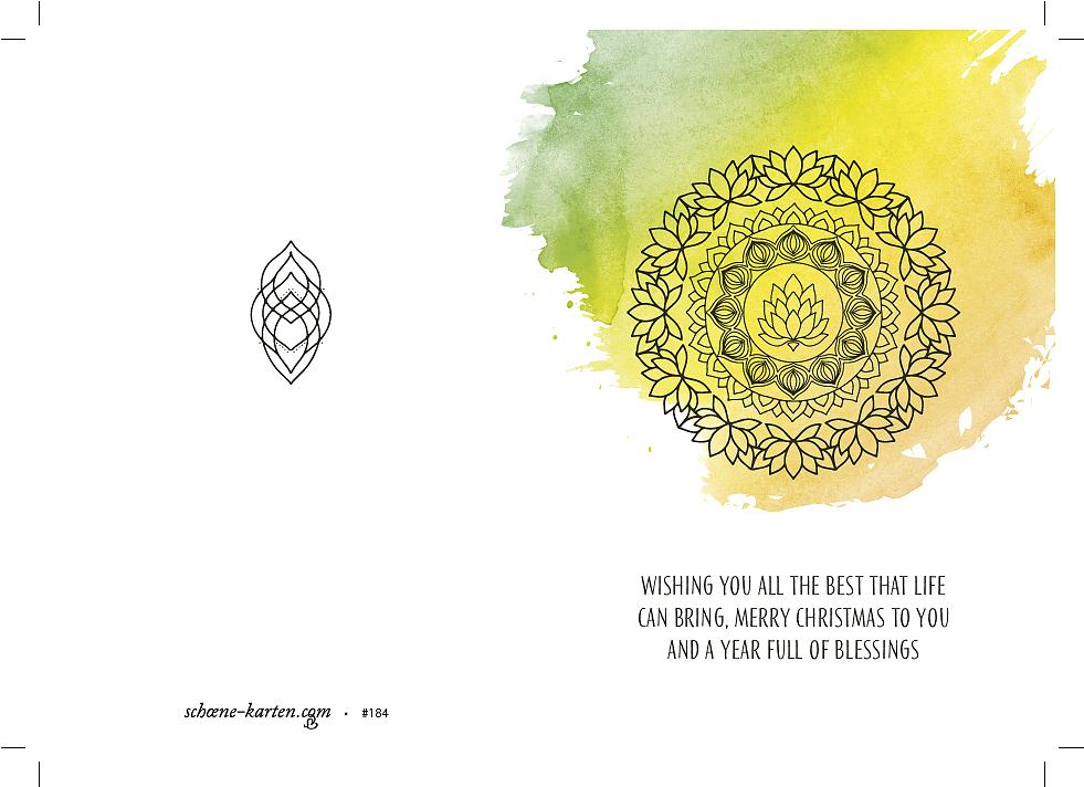 Weihnachtskarte Lotus Mandala