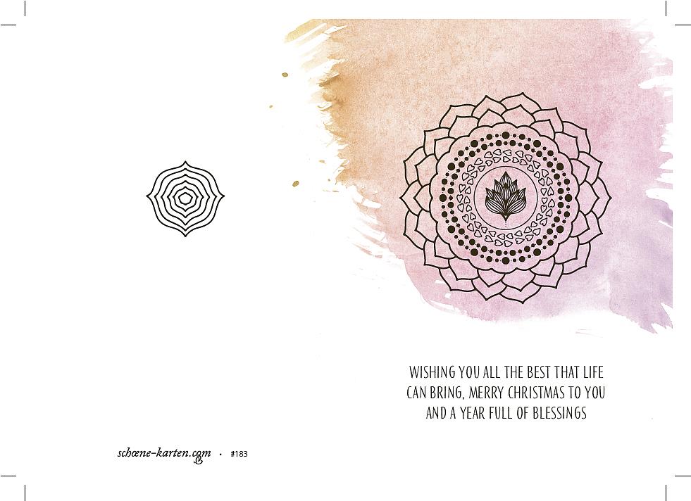 Weihnachtskarte Herz Mandala