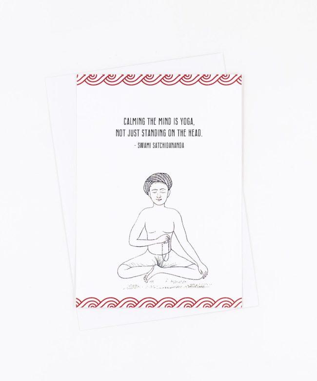 Yoga Postkarte Calming the mind