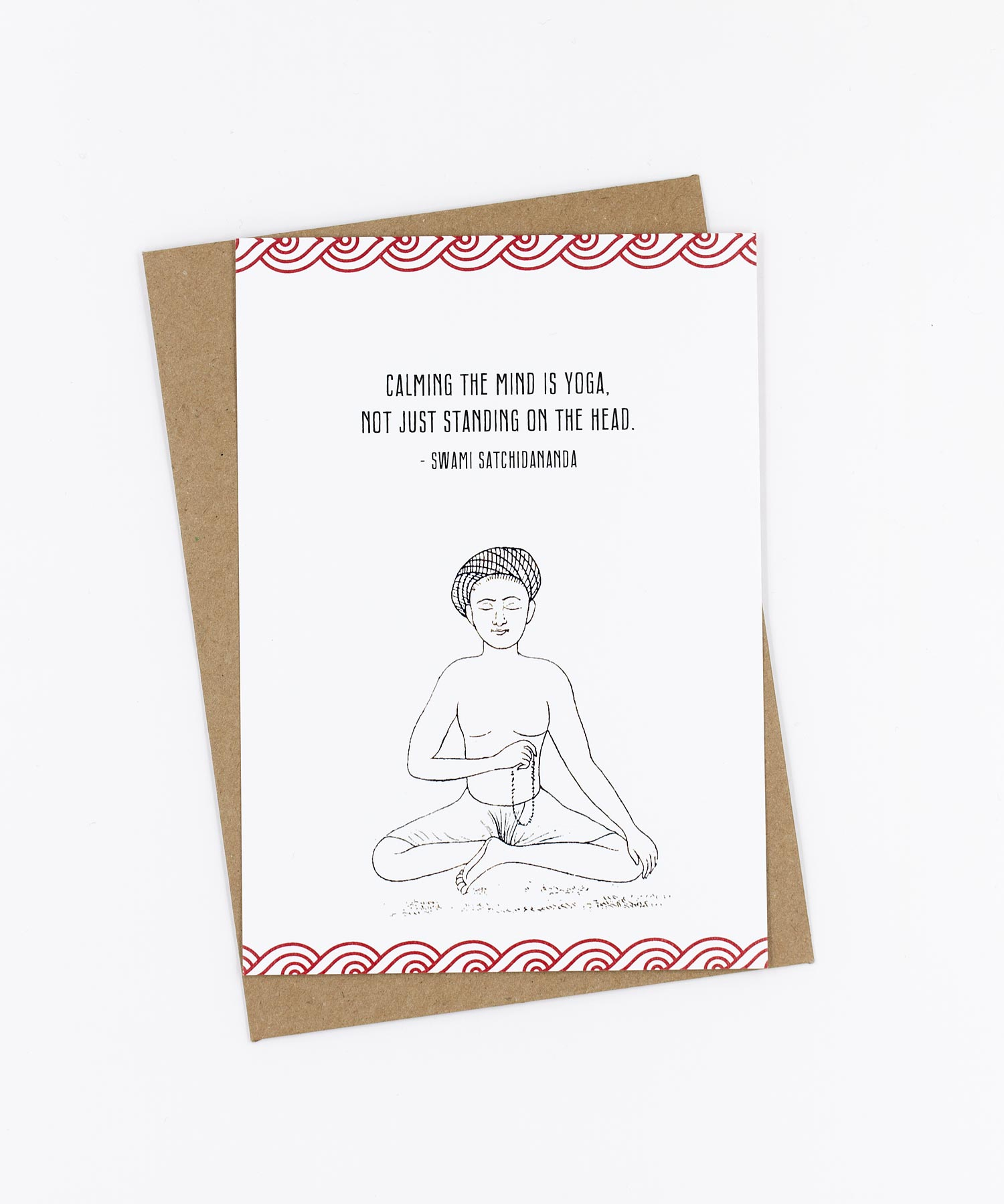 Yoga Postkarte Calming the mind