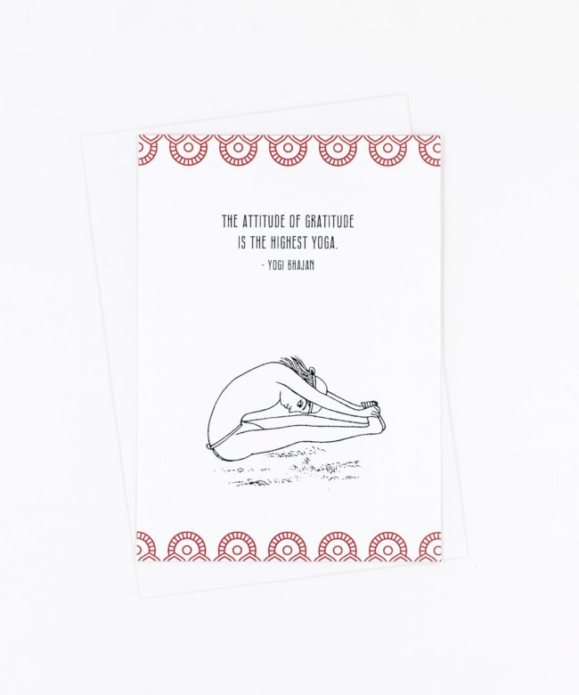 Yoga Postkarte The attitude of gratitude