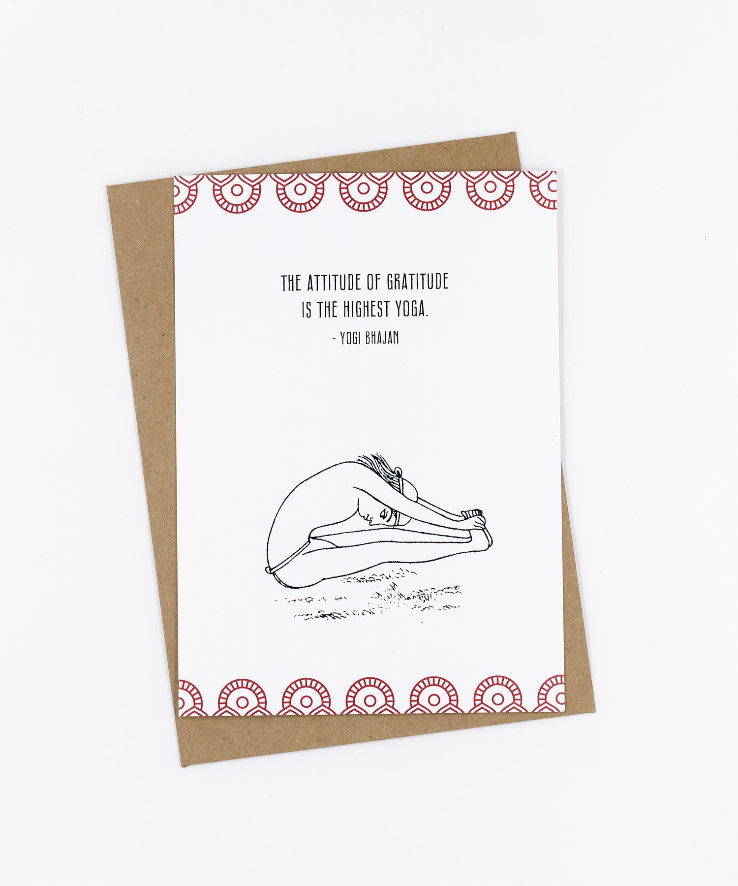 Yoga Postkarte The attitude of gratitude