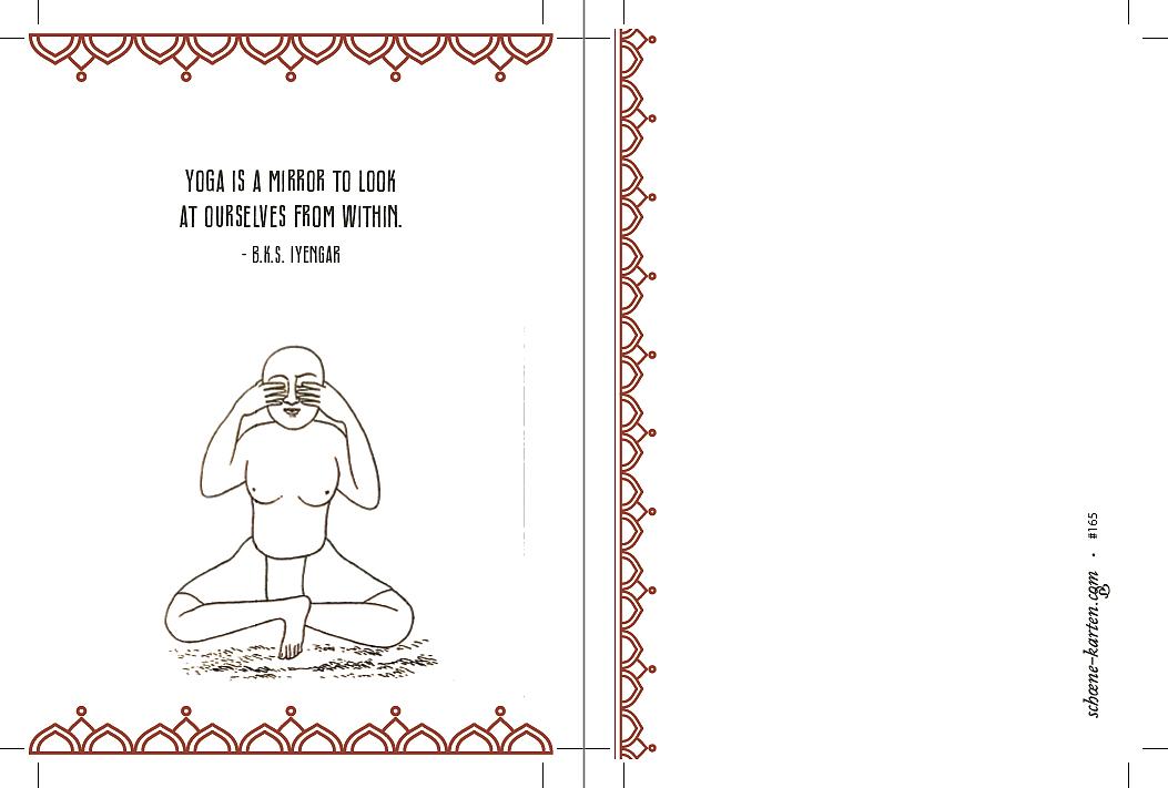 Yoga Postkarte Yoga is a mirror