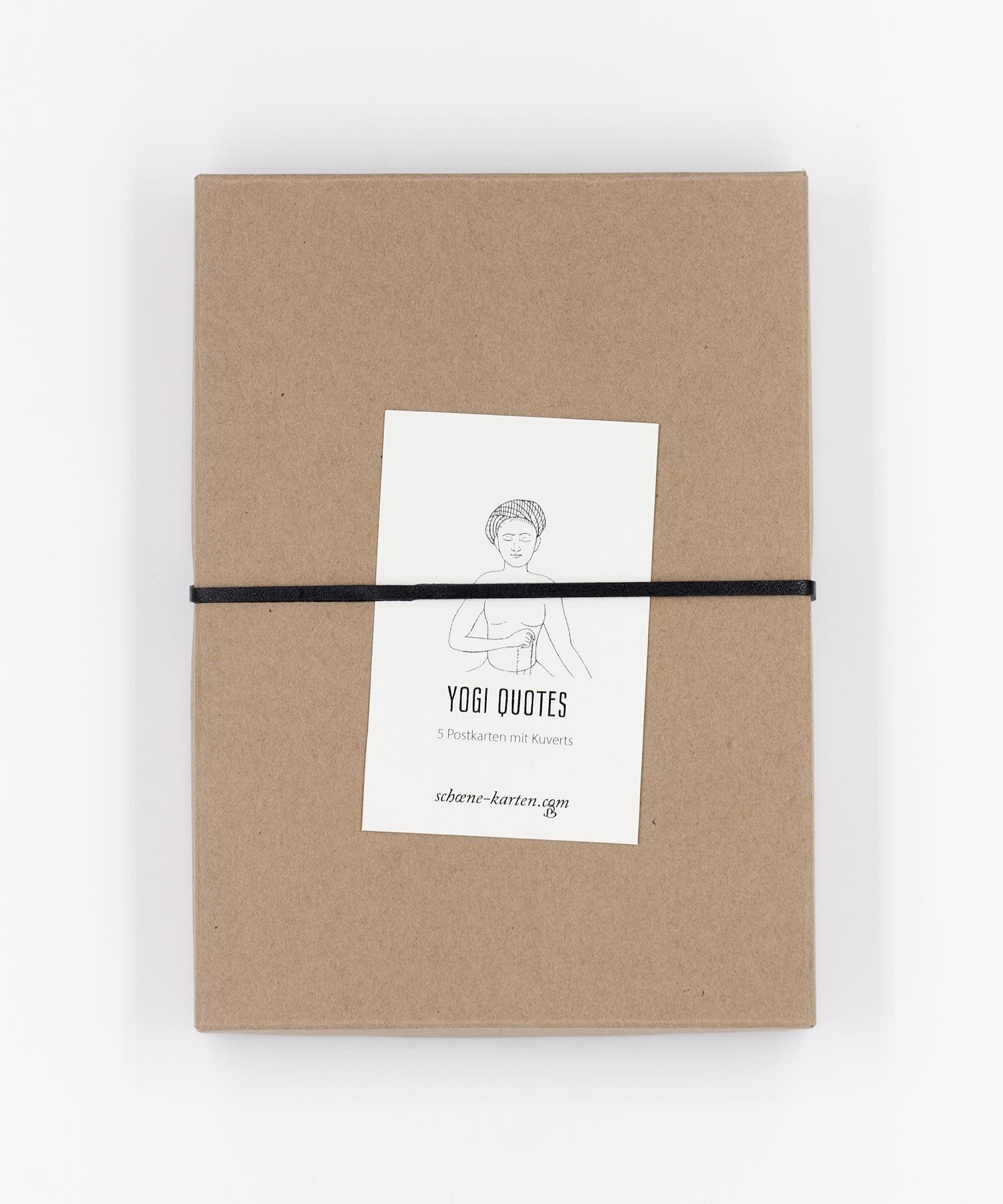 Yogi Quotes Postkarten Box