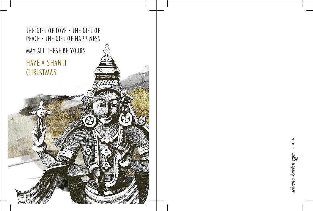 Weihnachtskarte Vishnu Shanti Christmas