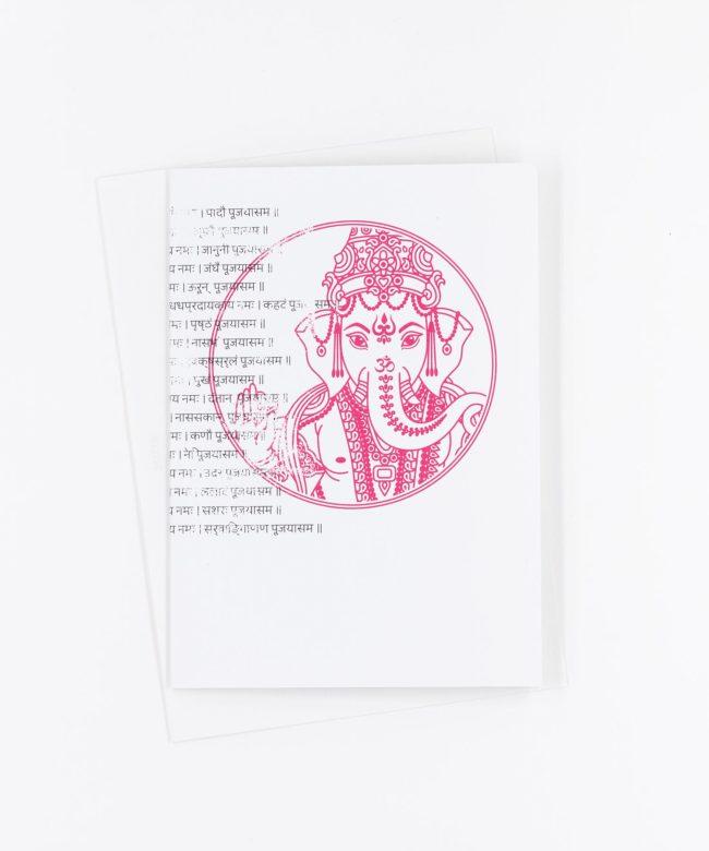 Yoga Grußkarte Ganesha Mantra