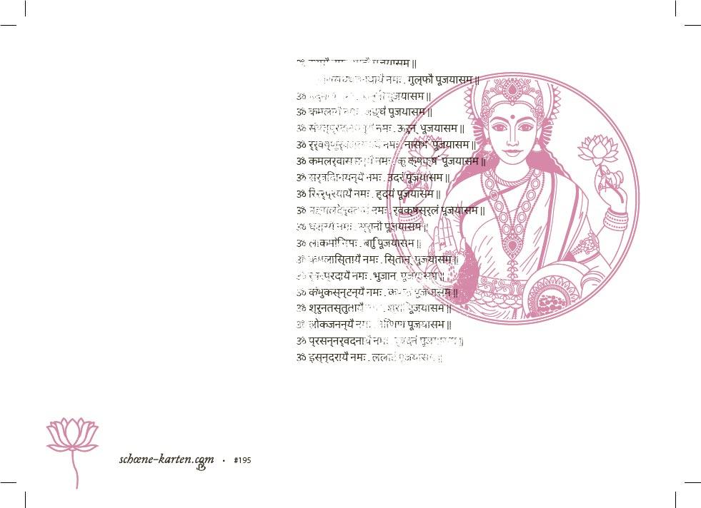 Yoga Grußkarte Lakshmi Mantra