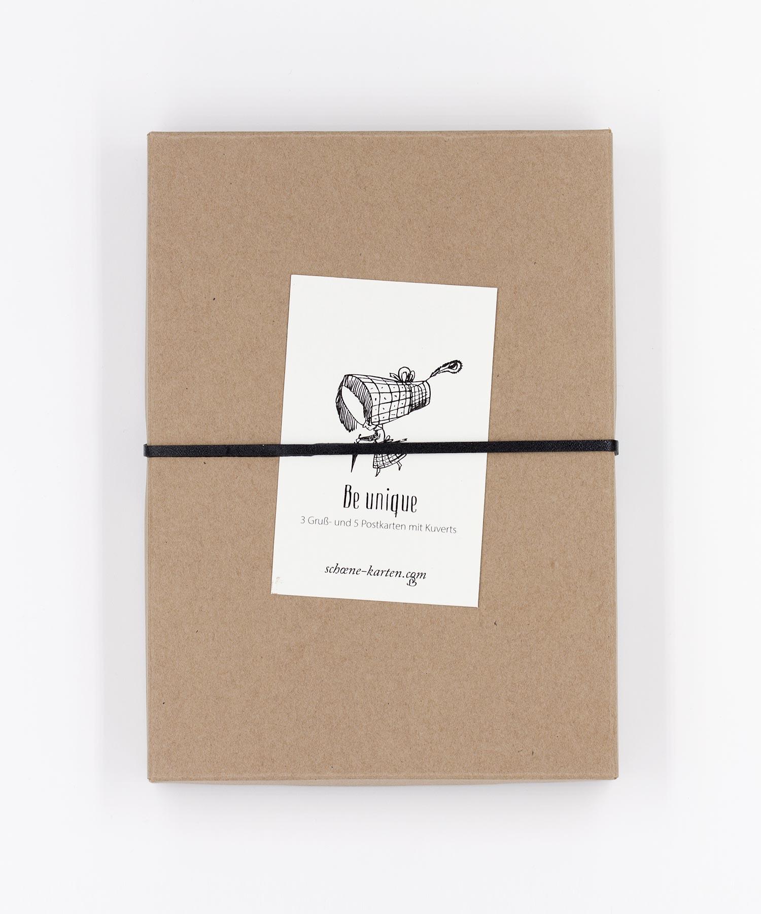 Be unique Gruß- und Postkarten Box