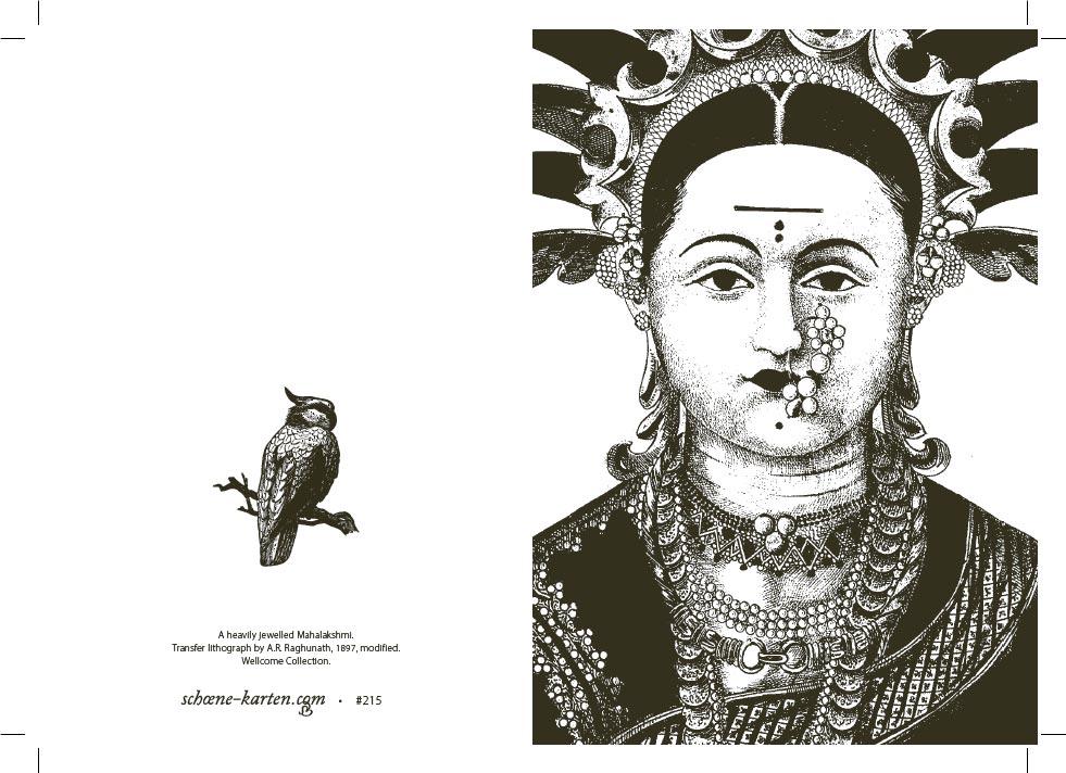 Grußkarte Portrait mit Papagei