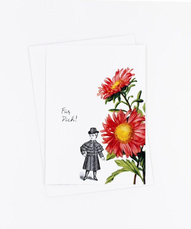 Postkarte Für Dich · Aster