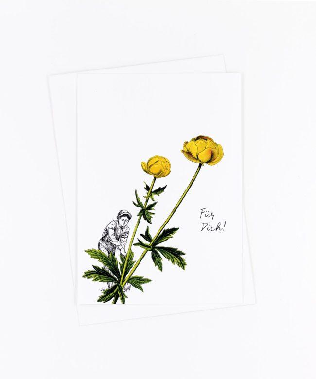 Postkarte Für Dich · Butterblume
