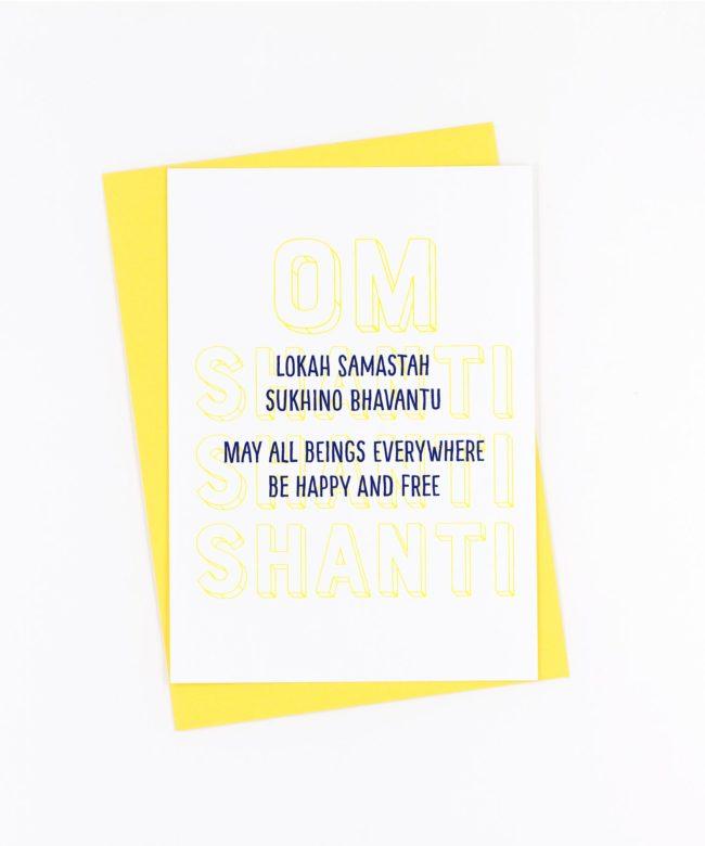 Yoga Postkarte Lokah Samastha