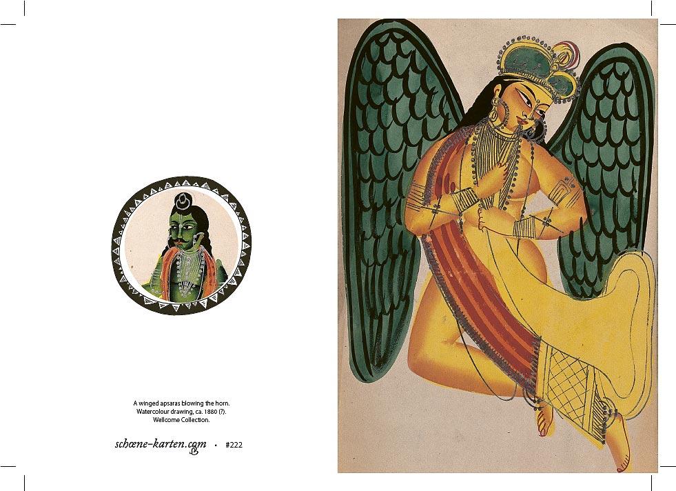 Weihnachtskarte Apsara
