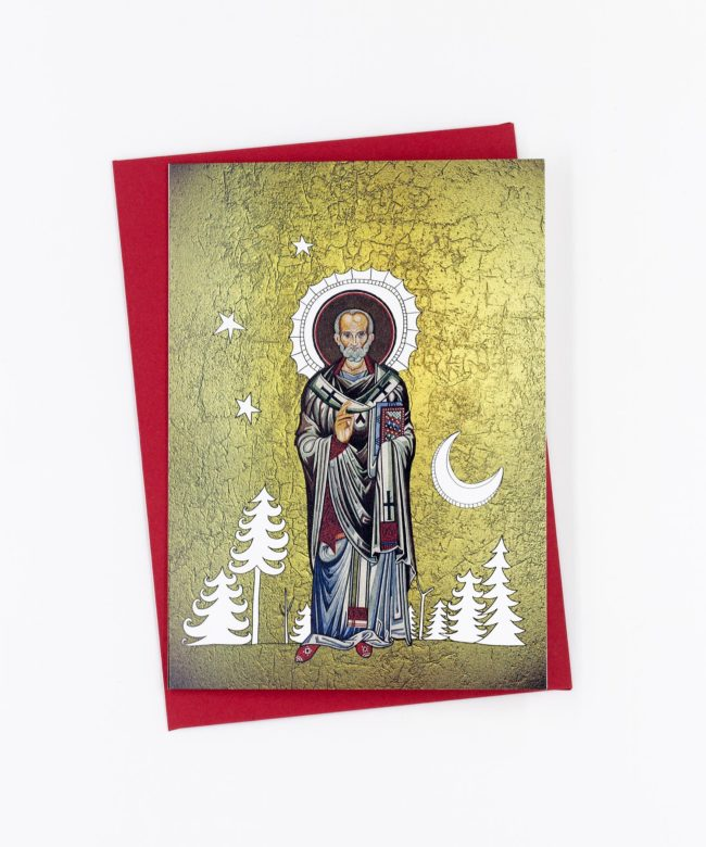 Weihnachtskarte Sankt Nikolaus