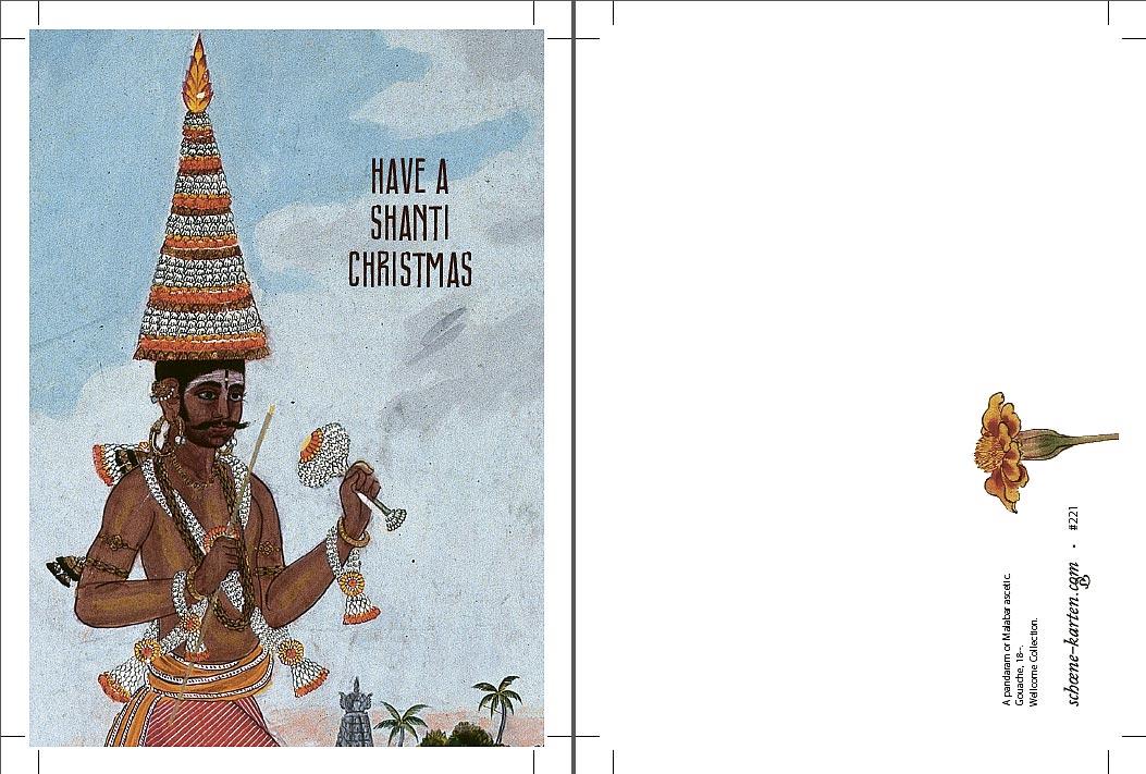 Weihnachtspostkarte Malabar Shanti Christmas