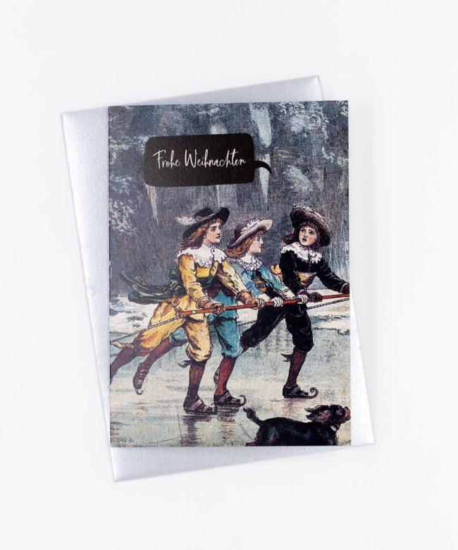 Weihnachtskarte Vintage Chevaliers