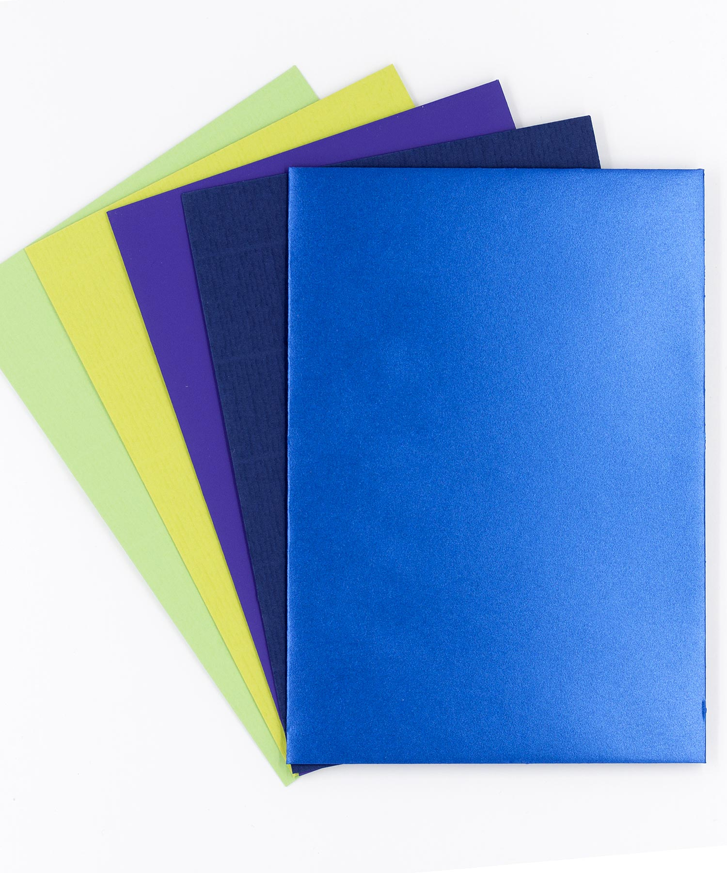Kuverts grün-blau