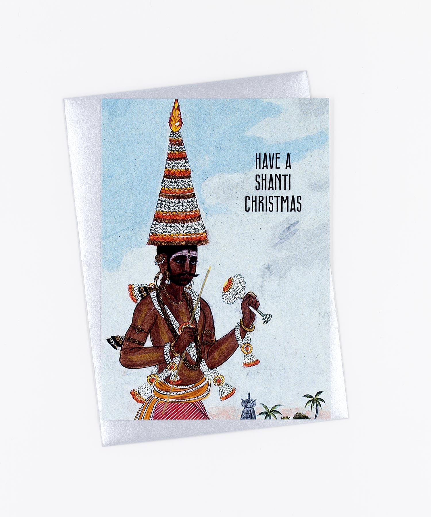 Weihnachtskarte Malabar Shanti Christmas