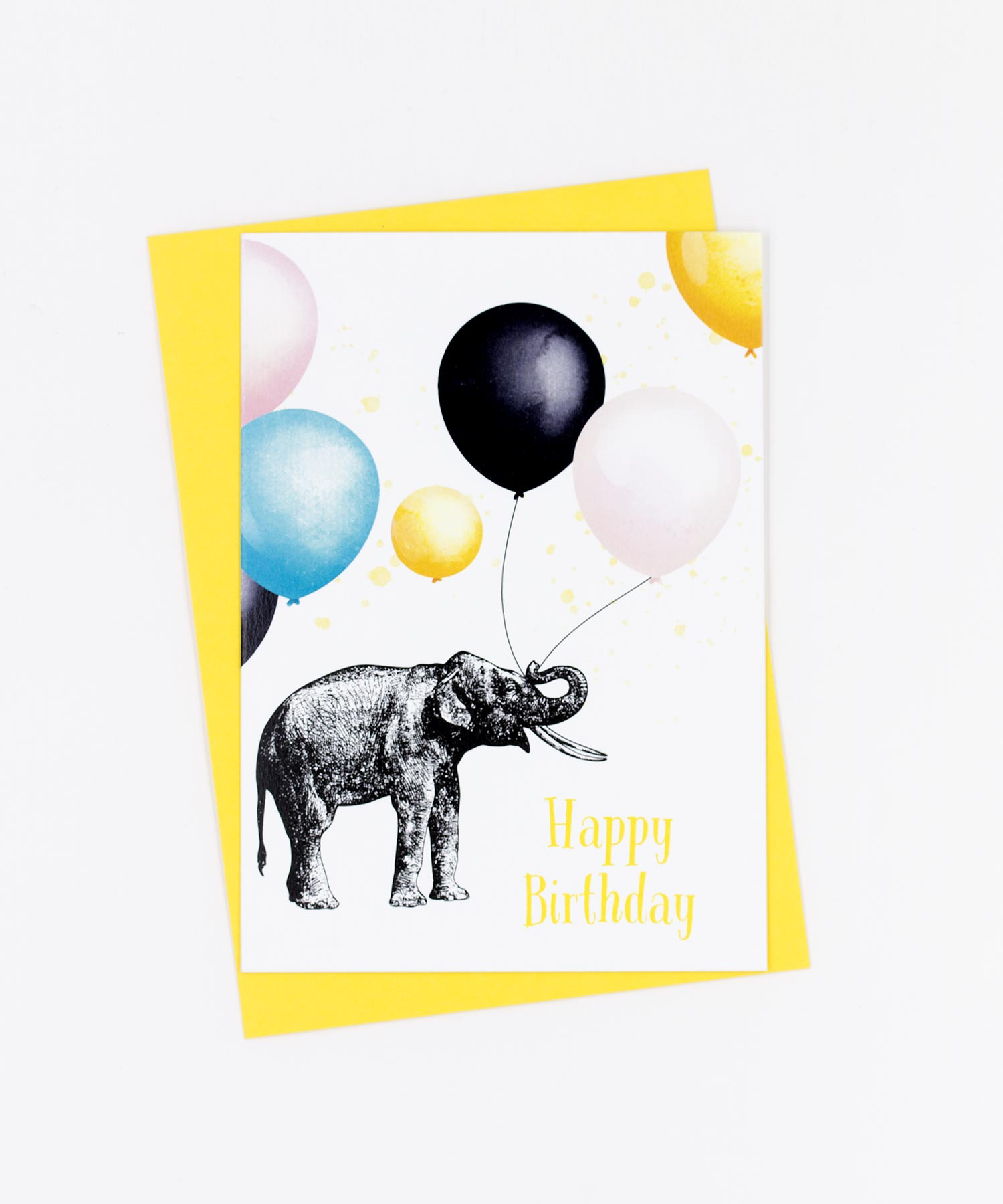 Geburtstagskarte Happy Birthday · Elefant