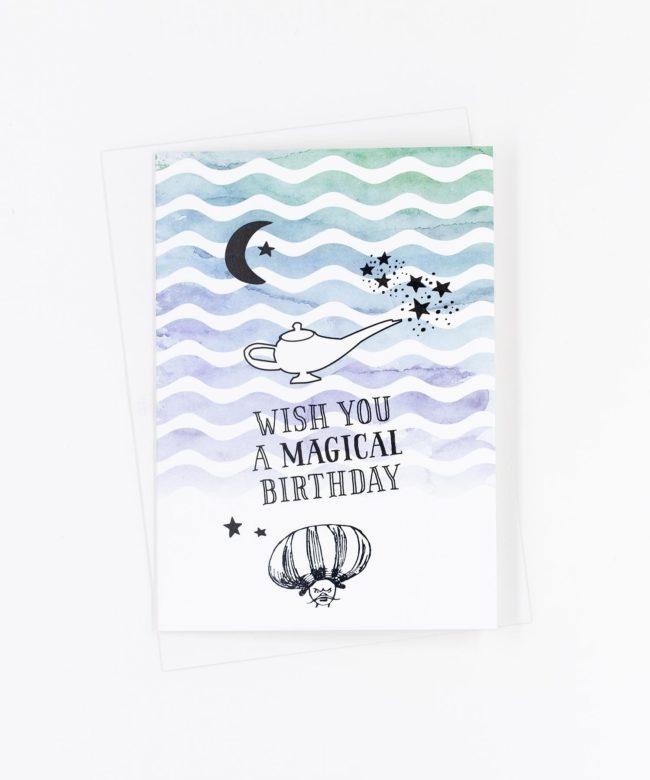 Geburtstagskarte Magical Birthday · Aladin