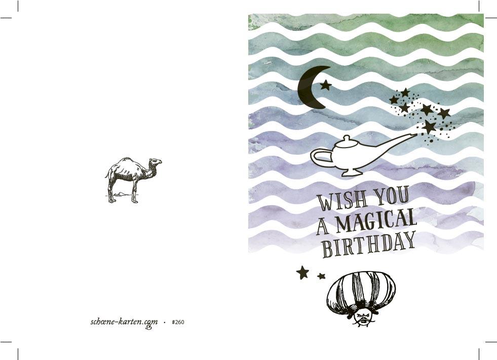 Geburtstagskarte Magical Birthday · Wunderlampe