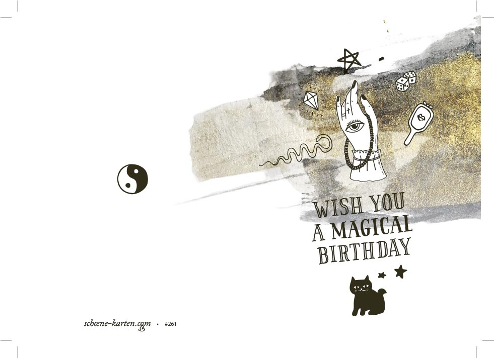 Geburtstagskarte Magical Birthday · Astro