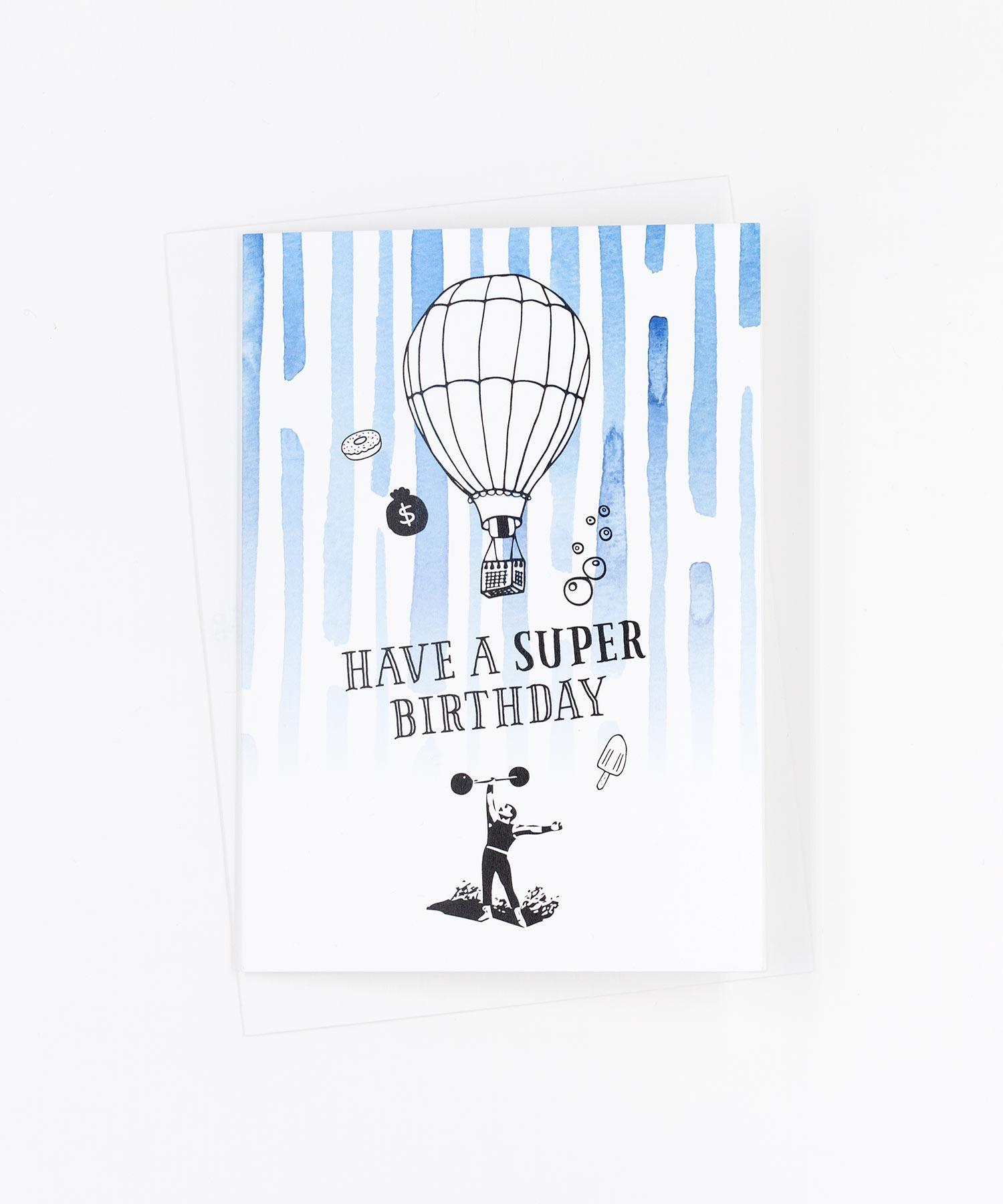 Geburtstagskarte Super Birthday