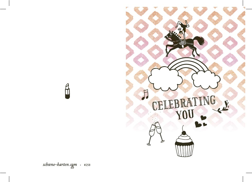 Glückwunschkarte Celebrating You