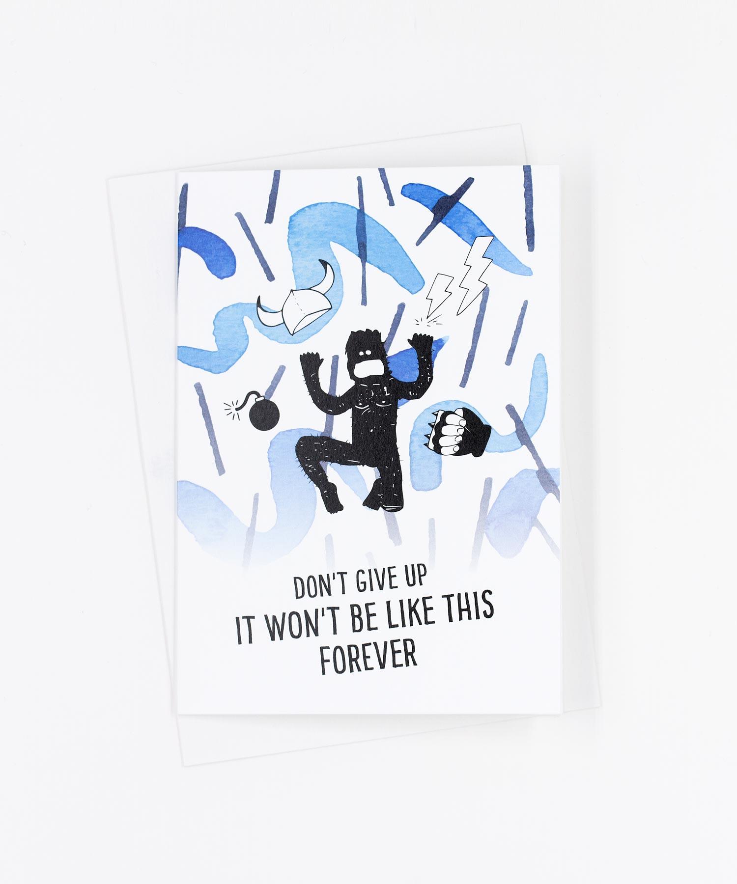 Grußkarte Don't Give Up