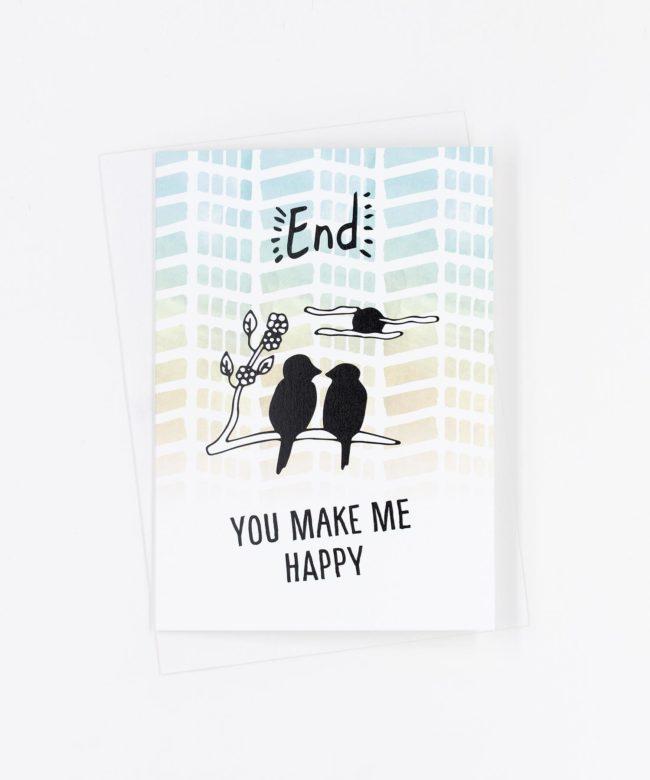 Grußkarte You Make Me Happy