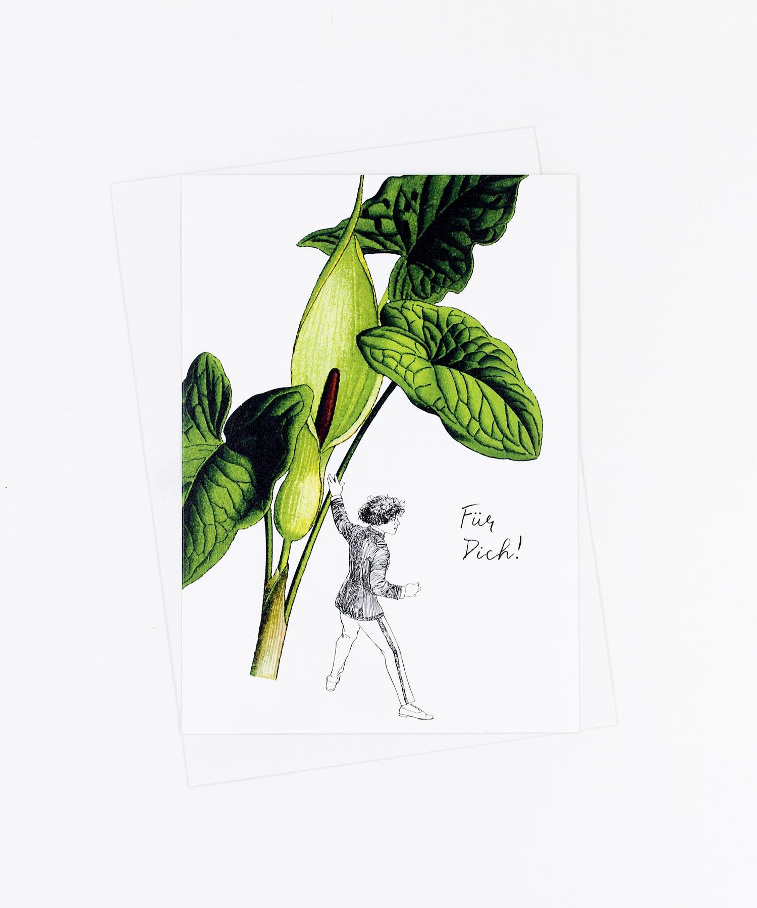 Postkarte Blume Für Dich · Aronstab