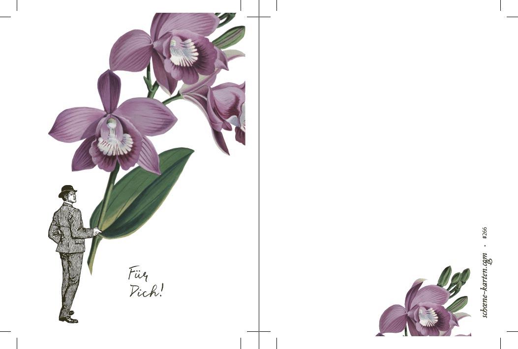 Postkarte Blume Für Dich · Orchidee