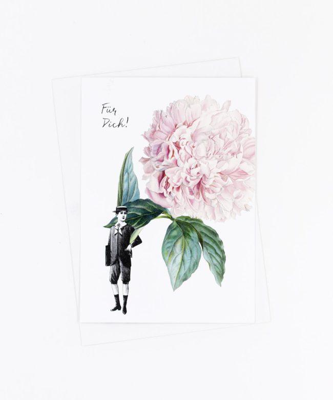 Postkarte Blume für Dich · Pfingstrose