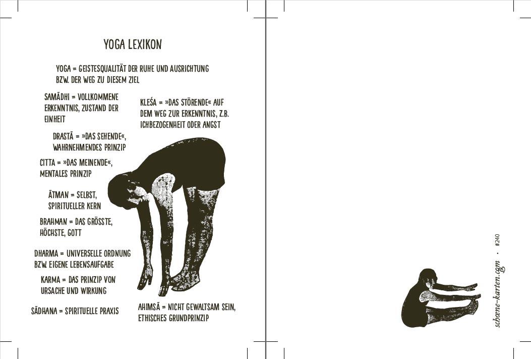 Postkarte Yoga Lexikon