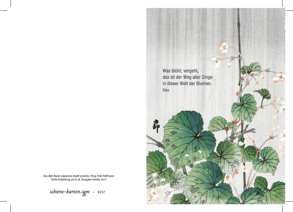Trauerkarte Welt der Blumen