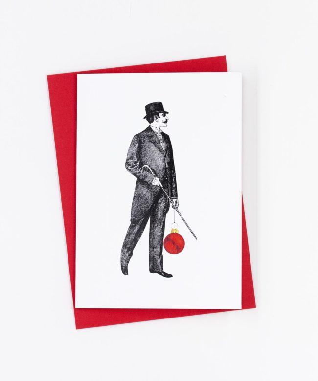 Weihnachtskarte Stilvoll · Gentleman