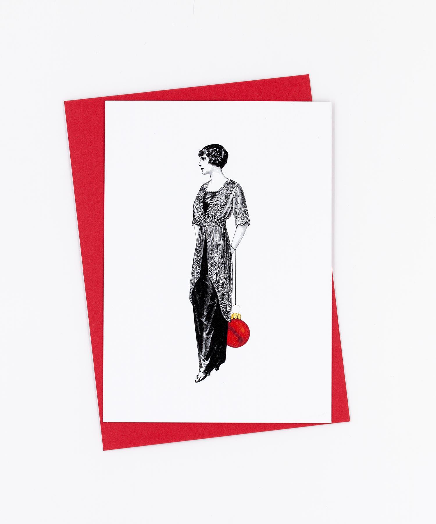 Weihnachtskarte Stilvoll · Ladylike