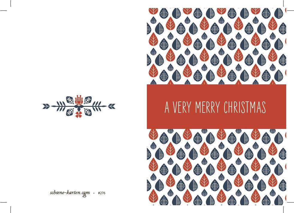 Weihnachtskarte skandinavisch · Blätter