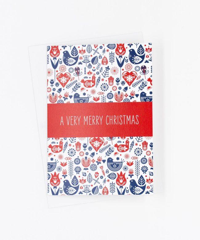 Weihnachtskarte skandinavisch · Muster