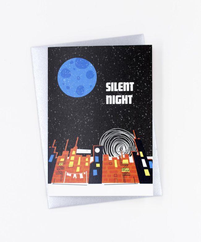 Weihnachtskarte Silent Night · Blue Moon