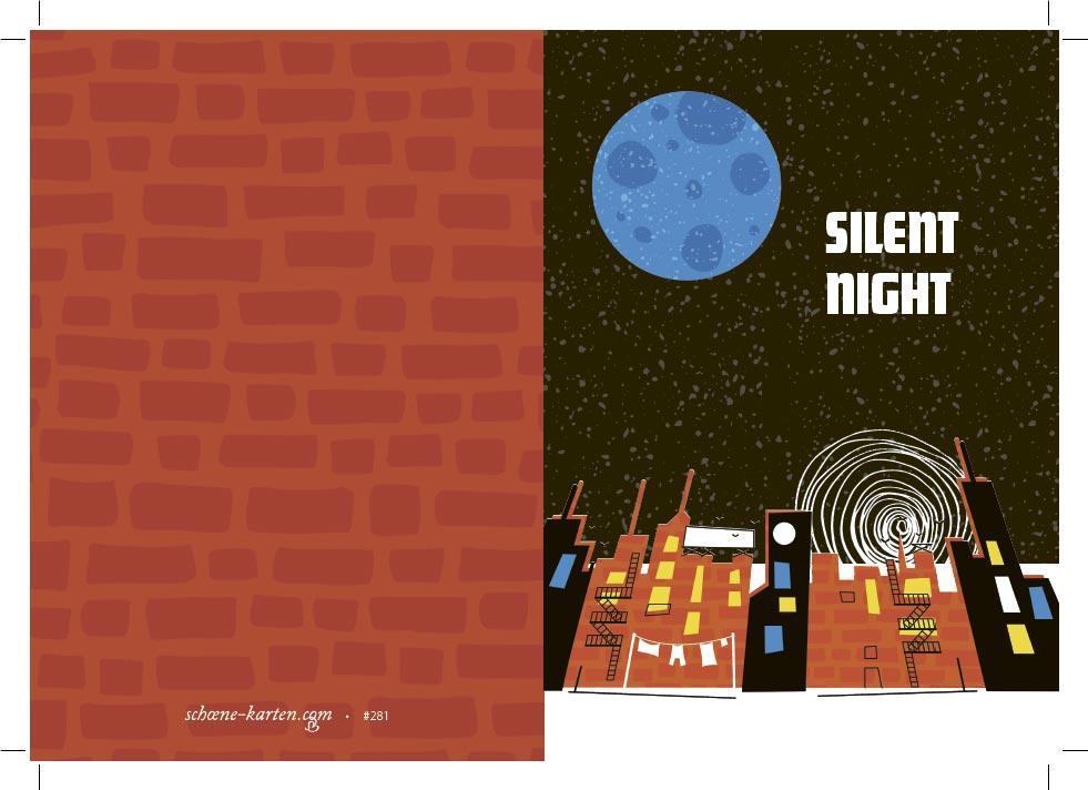 Weihnachtskarte Silent Night · Full Moon